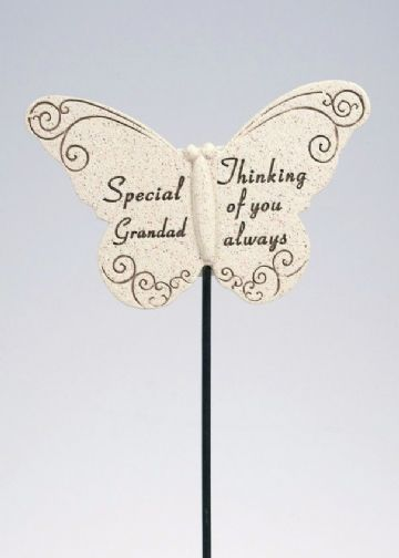 Special GRANDAD Butterfly Sentimental Memorial Grave Stick DF13264A